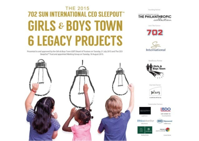 Girls & Boys Town Legacy - The CEO SleepOut