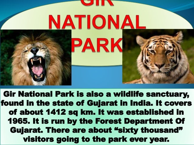 Gir National Park is also a wildlife sanctuary, found in the state of Gujarat in India. It covers of about 1412 sq km. It ...