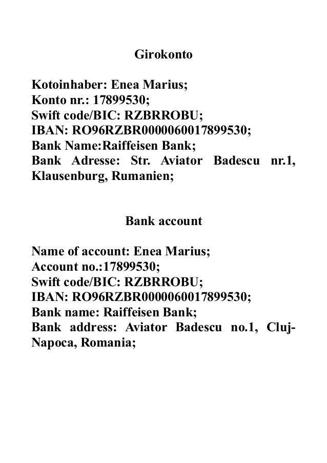 Raiffeisen Bank Romania Swift