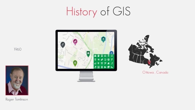 History of GIS Roger Tomlinson 1960 Ottawa , Canada