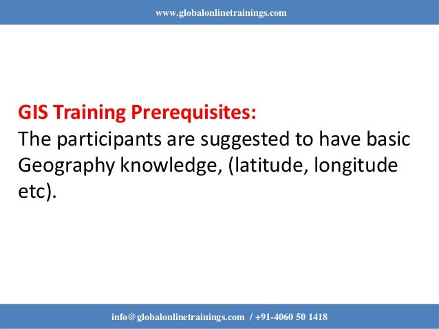 Gis Training | Gis Training Online Training Course - GOT