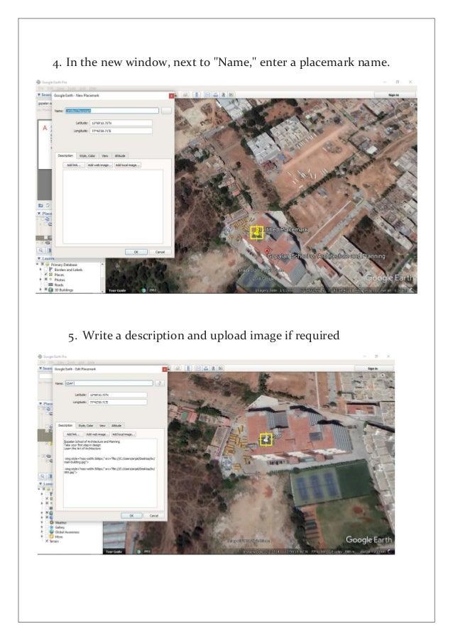 GIS - google earth -placemark - image overlay - screen overlay