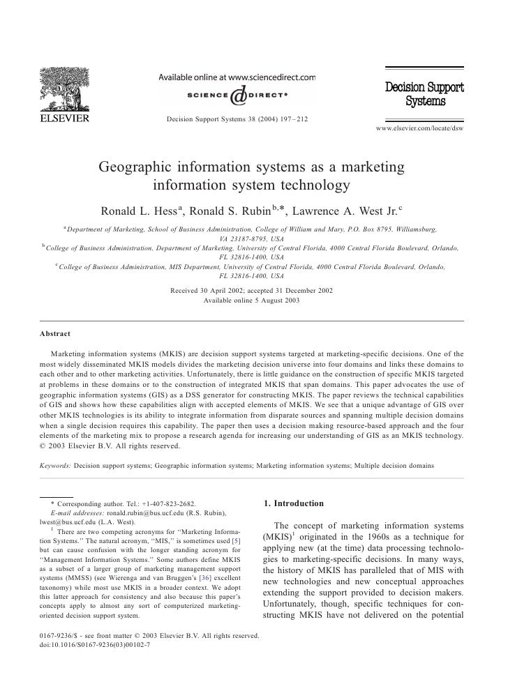Decision Support Systems 38 (2004) 197 – 212                                                                              ...