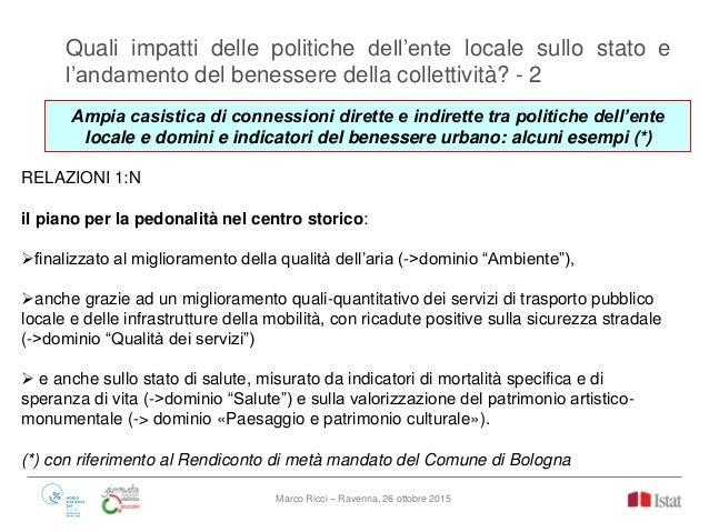 La Misurazione Del Benessere Equo E Sostenibile E Le Politiche Locali
