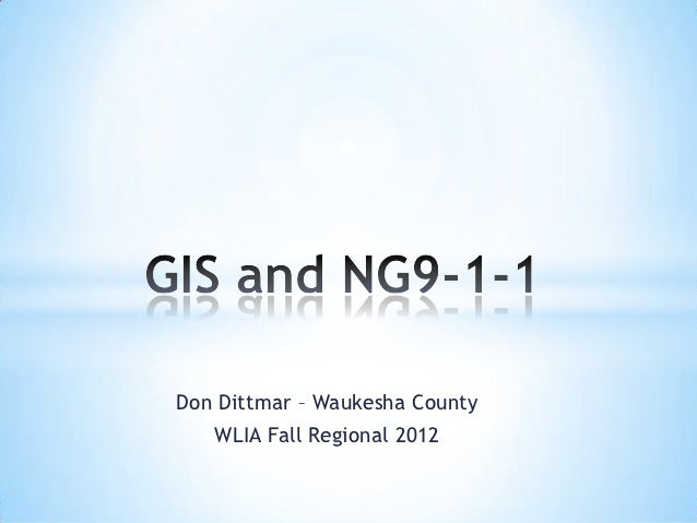 Don Dittmar – Waukesha County   WLIA Fall Regional 2012