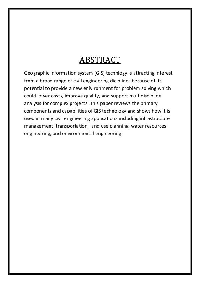 Gis Application In Civil Engineering