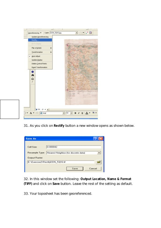 Gis arc map& georeferencing-arcgis
