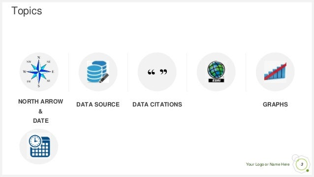 Your Logo or Name Here Topics NORTH ARROW & DATE DATA SOURCE DATA CITATIONS LOGOS GRAPHS 3