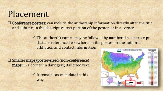 Placement  Conference posters: can include the authorship information directly after the title and subtitle, in the descr...