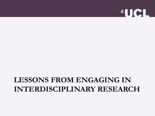 3. Being undermined, intentionally • X-disciplinary proposal are evaluated by experts from different fields, and no matter...