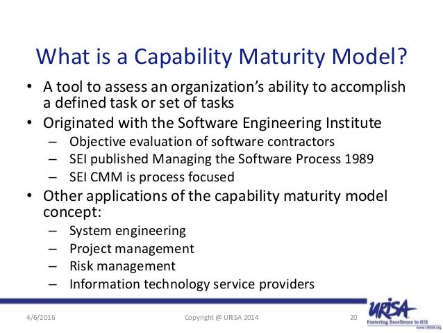 The GIS Capability Maturity Model Maximize Benefits from Enterprise G…