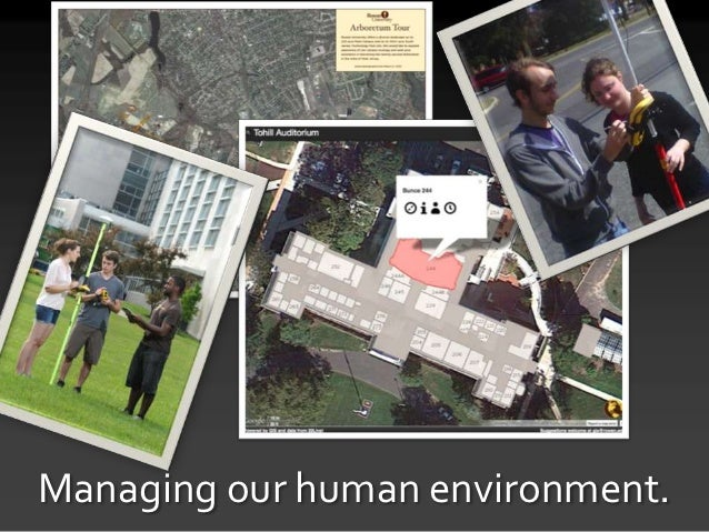 Managing our human environment.