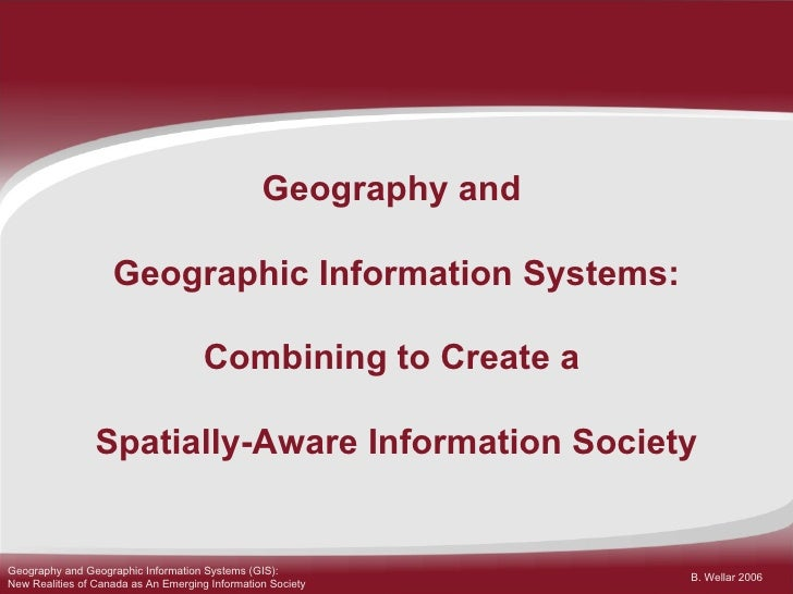 canada geographic information system Canada geographic information system (cgis) that was designed specifically for the  introductory readings in geographic information systems: taylor .