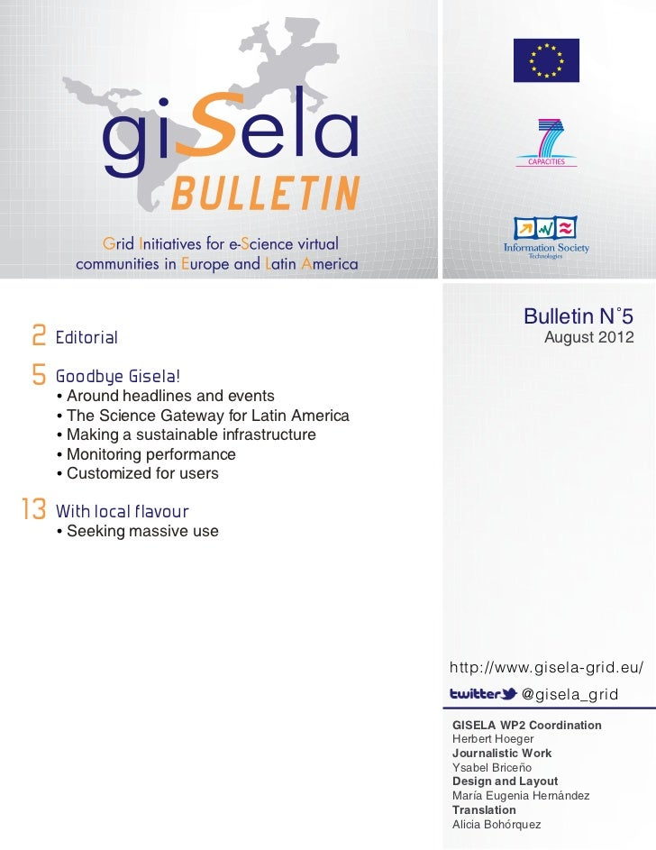 Bulletin N˚5 2 Editorial                                                August 2012 5 Goodbyeheadlines and events   •Arou...
