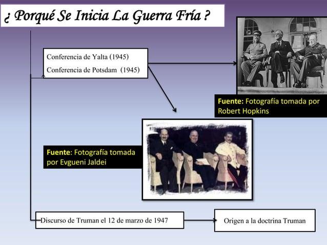 ¿ Porqué Se Inicia La Guerra Fría ? Discurso de Truman el 12 de marzo de 1947 Origen a la doctrinaTruman Conferencia de Ya...
