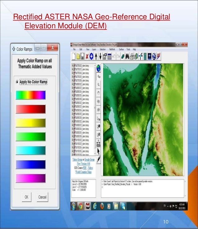 Rectified ASTER NASA Geo-Reference Digital Elevation Module (DEM) 10