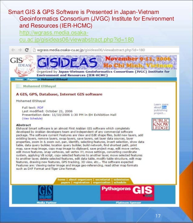 Smart GIS & GPS Software is Presented in Japan-Vietnam Geoinformatics Consortium (JVGC) Institute for Environment and Reso...