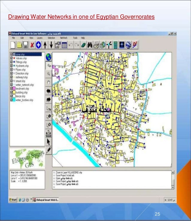 Drawing Water Networks in one of Egyptian Governorates 25