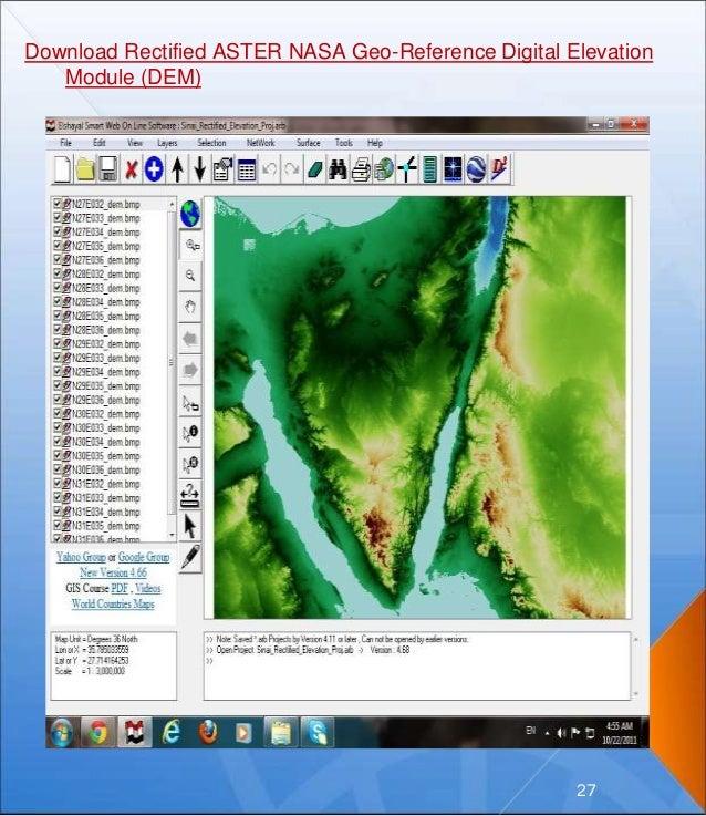 Download Rectified ASTER NASA Geo-Reference Digital Elevation Module (DEM) 27