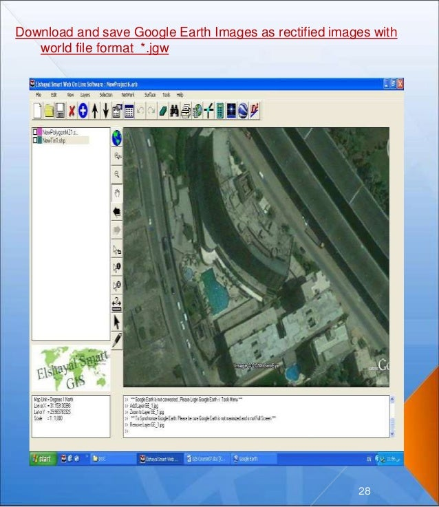 Download and save Google Earth Images as rectified images with world file format *.jgw 28