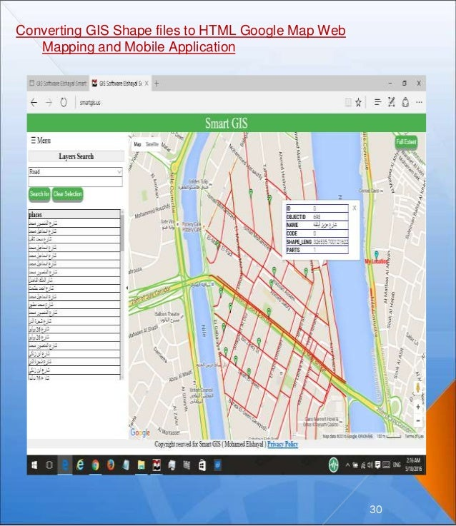 Converting GIS Shape files to HTML Google Map Web Mapping and Mobile Application 30
