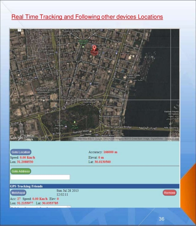 Real Time Tracking and Following other devices Locations 36