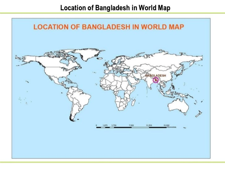 Status and perspectives of gis application in bangladesh 2 location of bangladesh in world map gumiabroncs Gallery