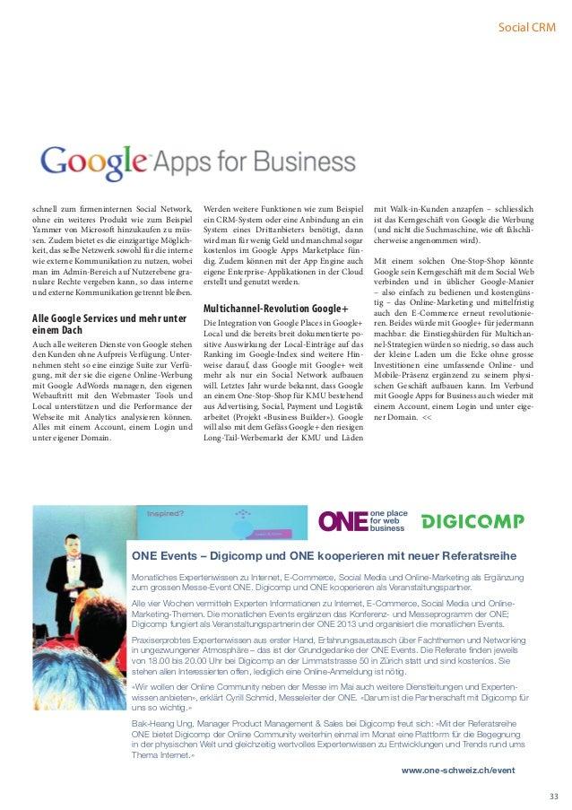 Social CRMschnell zum firmeninternen Social Network,        Werden weitere Funktionen wie zum Beispiel      mit Walk-in-Ku...