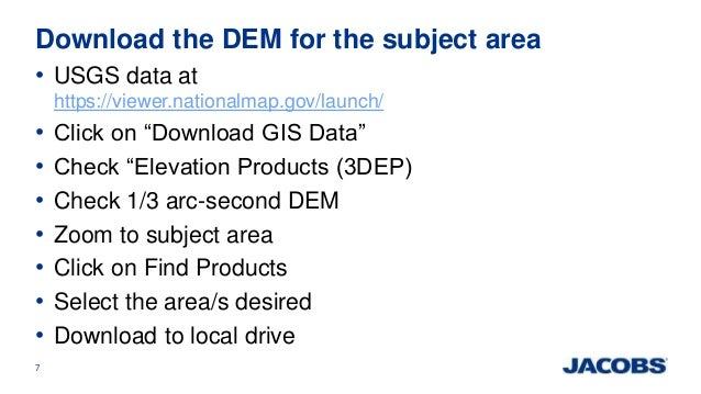 ASPRSRMR Big Data Track Using ArcGIS And A Digital Elevation M - Download dem data usgs
