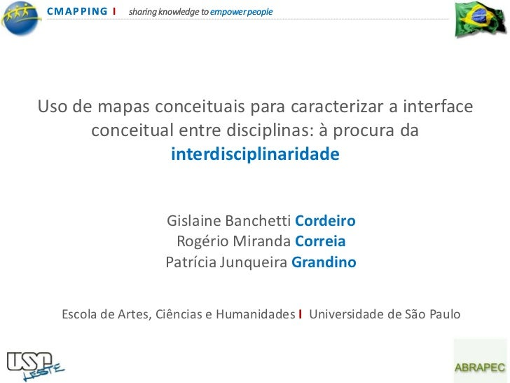 CMA PPING I   sharing knowledge to empower peopleUso de mapas conceituais para caracterizar a interface      conceitual en...