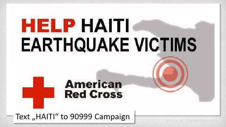 """Text """"HAITI"""" to 90999 Campaign<br />"""