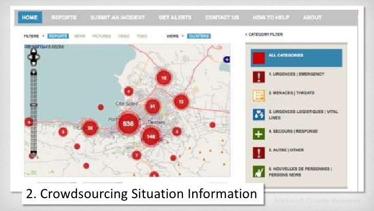 2. Crowdsourcing Situation Information<br />