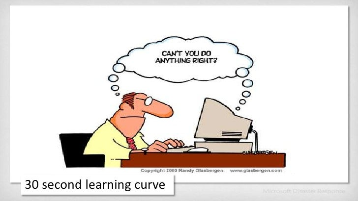 30 second learning curve<br />