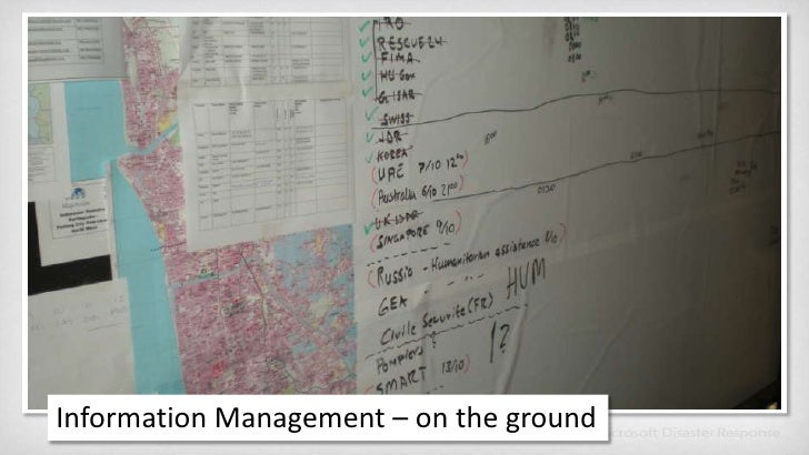Information Management – on the ground<br />