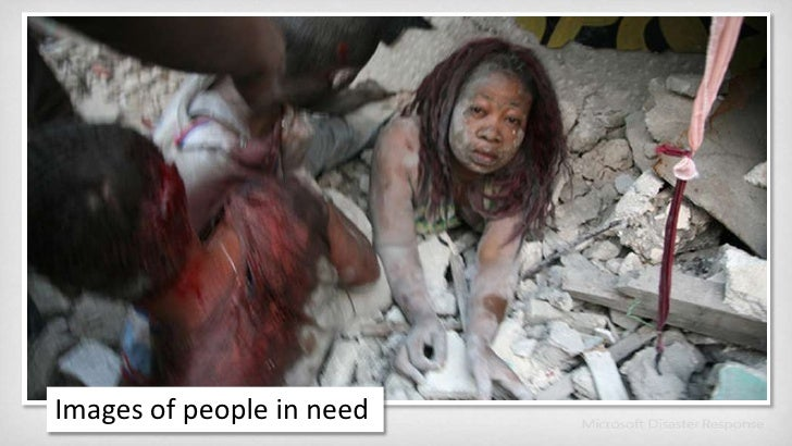 Images of people in need<br />