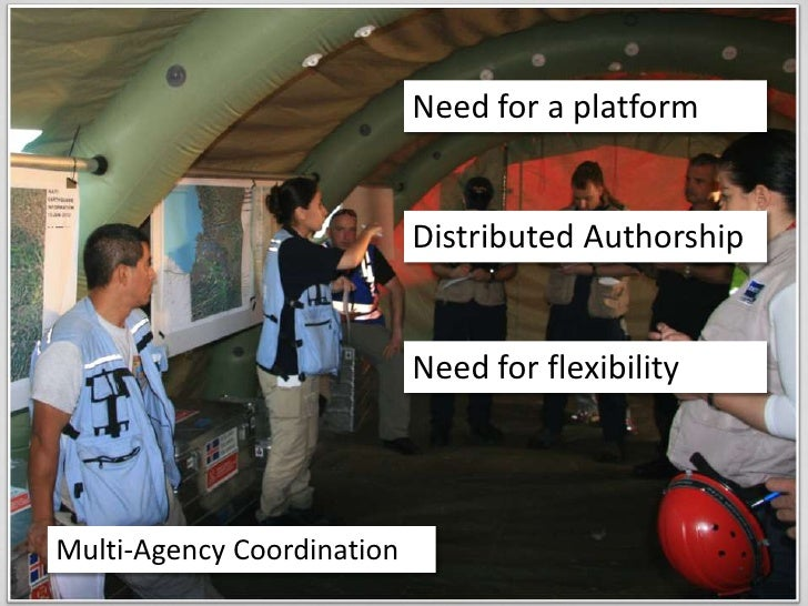 Need for a platform<br />Distributed Authorship<br />Need for flexibility<br />Multi-Agency Coordination<br />