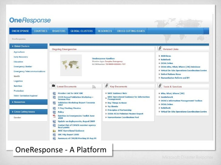 OneResponse - A Platform<br />