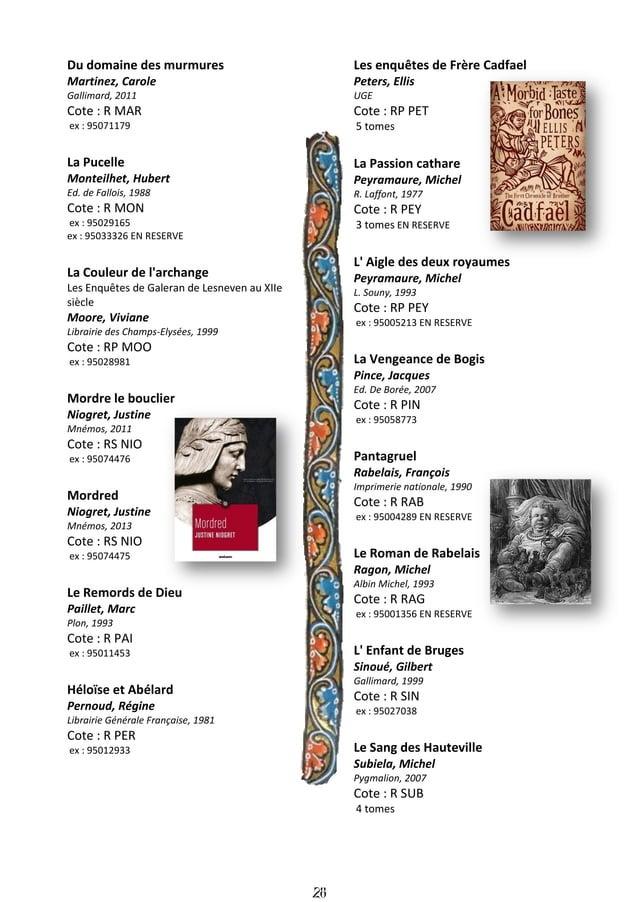 29 Je, François Villon Teulé, Jean Julliard, 2006 Cote : R TEU ex : 95048096 La fille du templier Thibaux, Jean-Michel Pre...