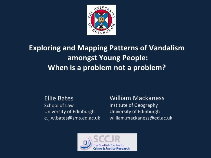 Exploring and Mapping Patterns of Vandalism amongst Young People: When is a problem not a problem? Ellie Bates School of L...