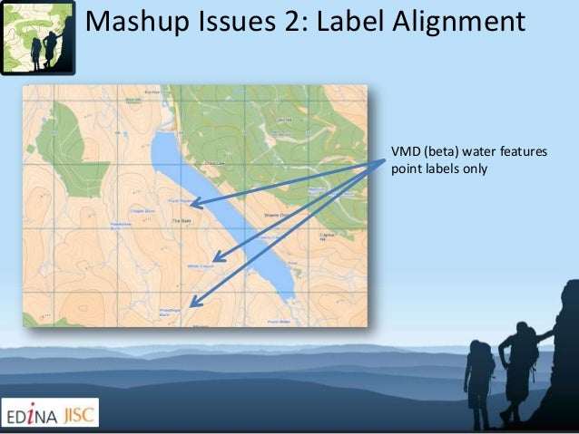Mashup Issues 2: Label Alignment                      VMD (beta) water features                      point labels only