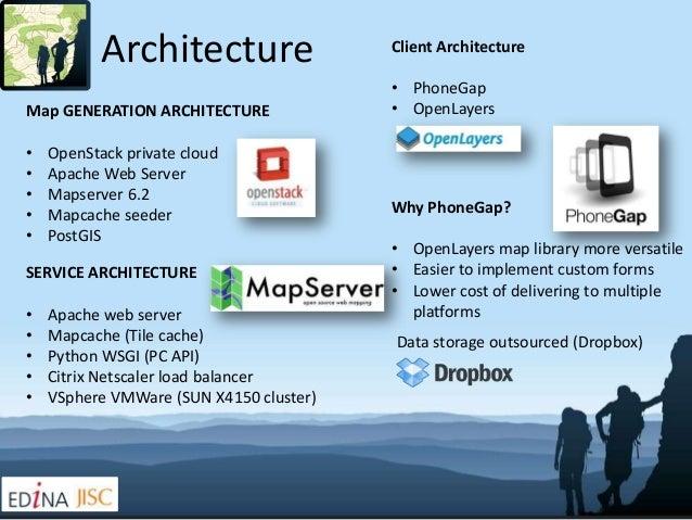Architecture                  Client Architecture                                         • PhoneGapMap GENERATION ARCHITE...