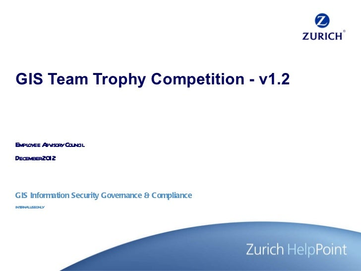 GIS Team Trophy Competition - v1.2 Employee Advisory Council December 2012