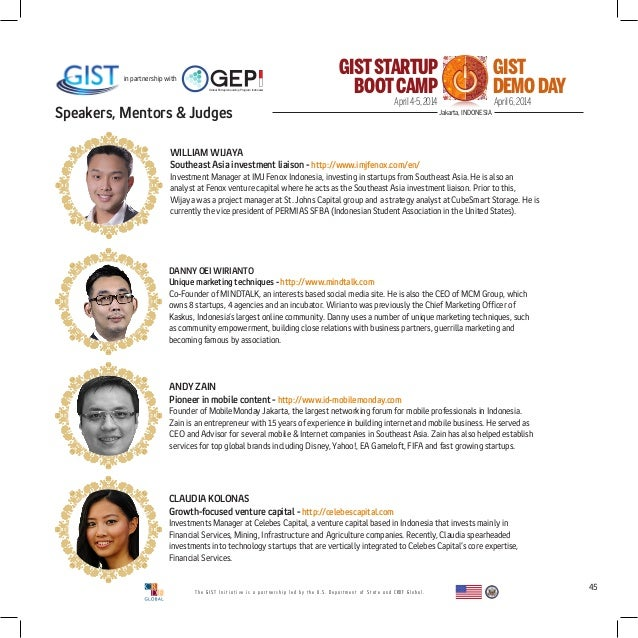 Gist Indonesia Bootcamp Brochure March 2014