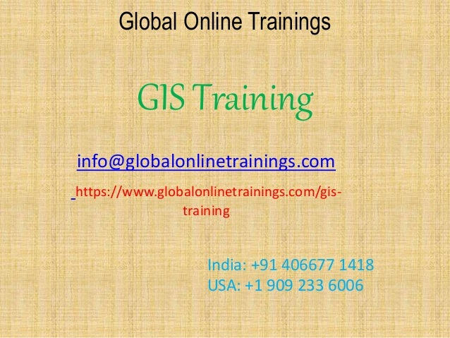 Gis training ppt