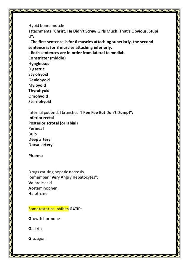 GI system mnemonics Slide 3