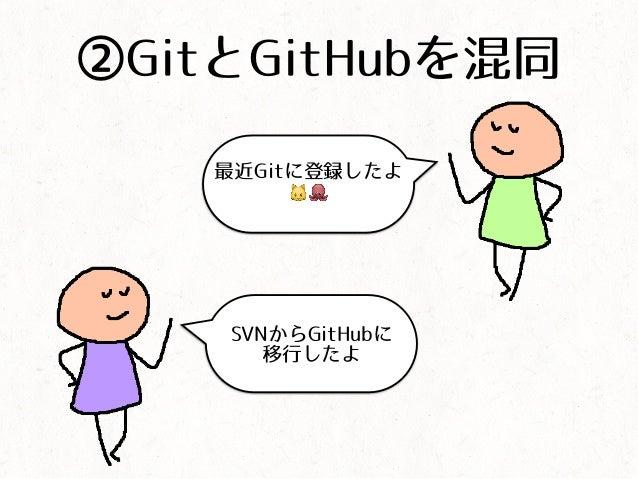 ②GitとGitHubを混同 最近Gitに登録したよ 🐱🐙 SVNからGitHubに 移行したよ