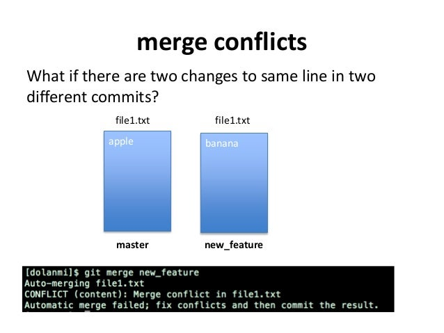 Git Resolve conflict Manually
