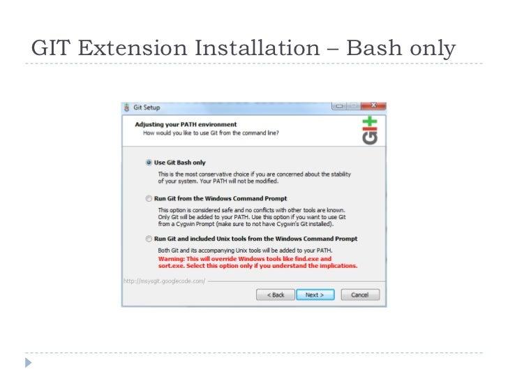 Git extension-training