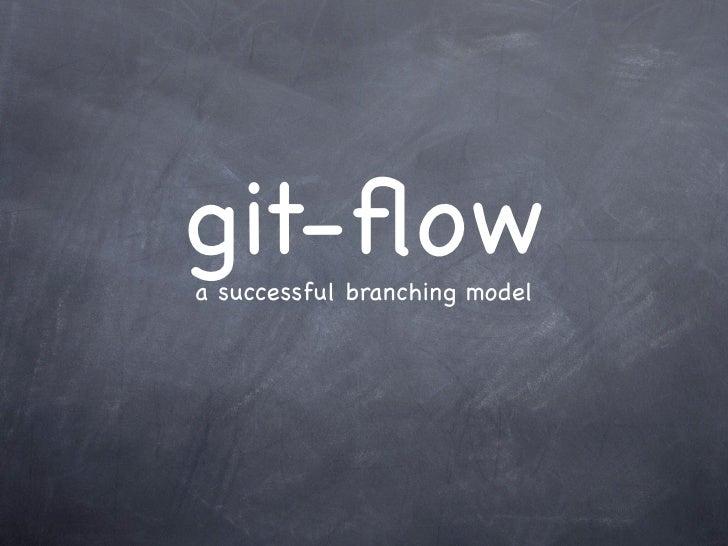 git-flowa successful branching model