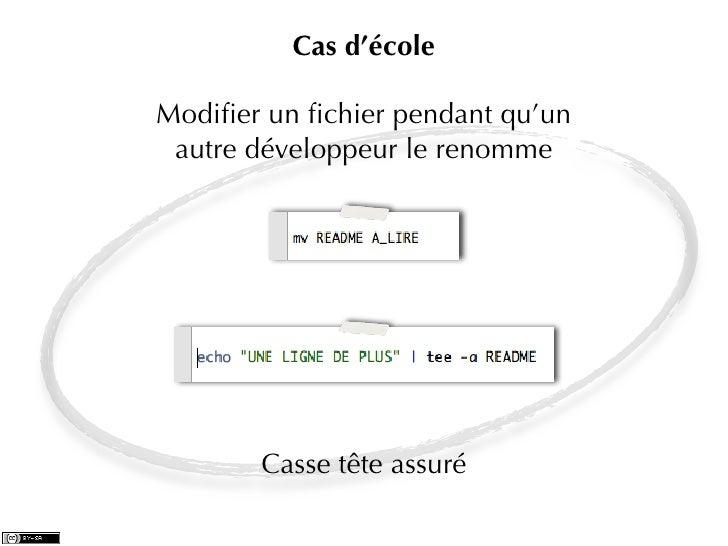 Cas d'écoleModifier un fichier pendant qu'un autre développeur le renomme       Casse tête assuré